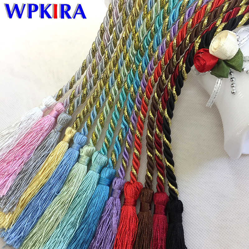 Multicolor Rainbow Color Tassels Tieback Rope Decoration Exquisite Hand-woven Lanyard Strap Tying Home Curtain Accessories CP061
