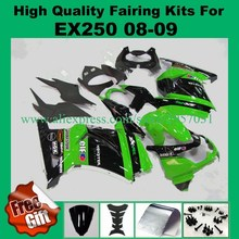 Free screws+gifts Injection mold for Kawasaki Ninja 250R Fairings kit Green Black ERF 2008-2014 model ZX250R EX250R 08 09(China)