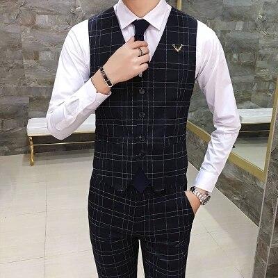 Mauchley 2017 Autumn New England Plaid suit slim Vest Mens Vest Men's Slim Fit Vest Waistcoat Male Suit Vest Social Clothes