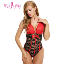 Avidlove Sexy Bodysuit Lingerie Women Sexy costumes Nightwear Lace Teddies Bodysuit Ladies Underwear Erotic Lingerie Babydolls(China)