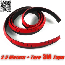 Car Bumper Lip Front Deflector Side Skirt Body Kit Rear Bumper Tuning Ture 3M Tape Lips For Ford Mustang GT / CS