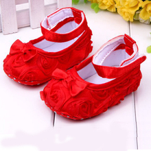Hot sales Lovely Girls Princess Pre-walker Shoes Infant Baby Shoes Toddler shoes soft sole flower