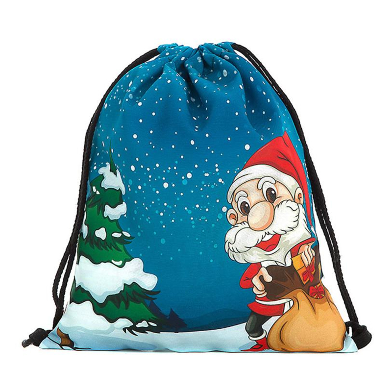 2018 New Ocardian Christmas Candy Gift Bundle Pocket Santa Claus Snowman Printed bag breathable Backpacks for Travel Daily C041706