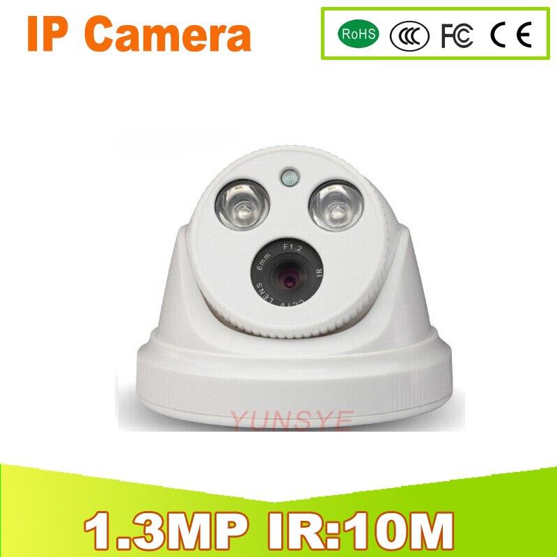 YUNSYE Free shipping IP Camera 1.3MP Outdoor Full HD Waterproof Bullet Security 4mm Lens IR Cut P2P ONVIF IR:10M  Dome Camera <br>