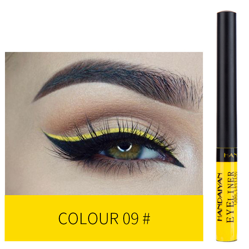 12 Color Eyeliner Liquid Waterproof Easy To Wear Make Up Matte Eye Liner Blue Red Green White Gold Brown Eyliner 11