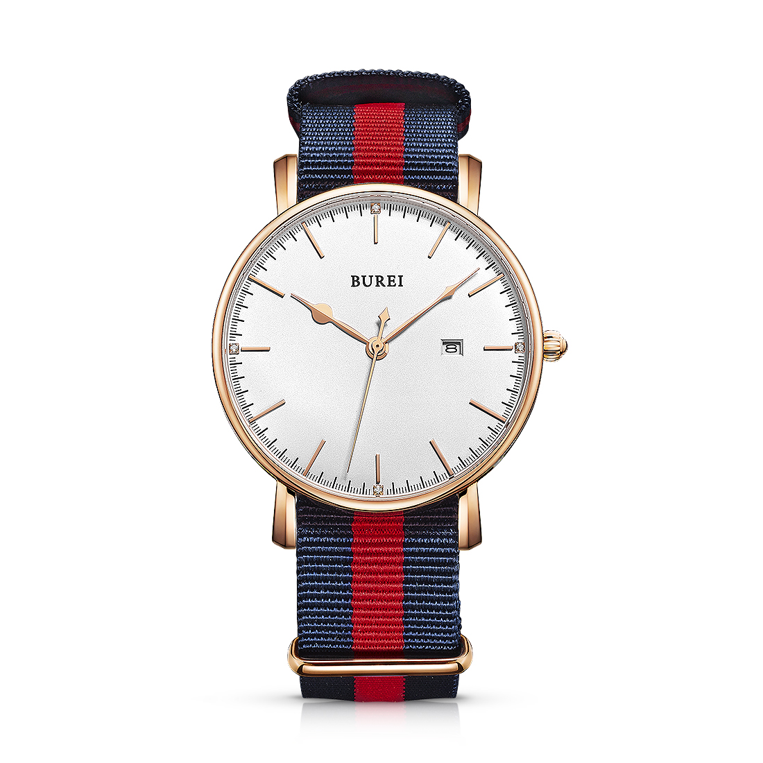 BUREI 13002 Switzerland watches men luxury brand Bauhaus series Milan lovers sapphire rose gold relogio masculino feminino<br><br>Aliexpress