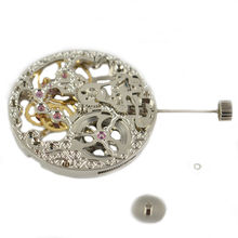Watch accessories Classic 17 Jewels mechanical Analog Full Skeleton silver Hand Winding 6497 movement watches for parts(China)
