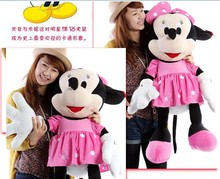 about 100 cm Minnie plush toy lovely doll throw pillow, girlfriend gift b4330