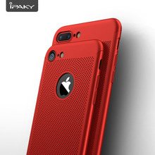 IPAKY Brand New Summer Air Cool Holes Shockproof Mobile Phone Hybrid 360 Degree Full Protection Slim Case For Apple iPhone 7