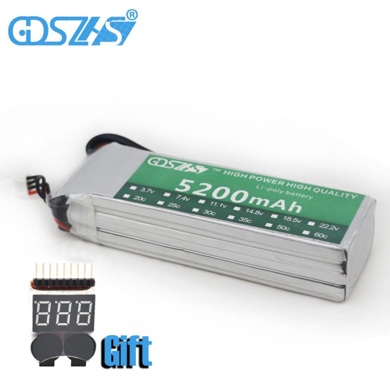 3s 30c 11.1v 5200mah airplane model battery aeromodeling battery model aircraft lithium polymer battery li-polymer drone battery(China)