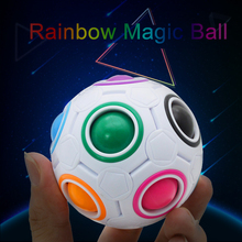 2017 Fun Creative Spherical Magic Cube Speed Rainbow Puzzles Ball Football Kids Educational Learning Toys for Children Adult(China)