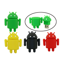 Cartoon Android robot usb flash drive pendrive usb2.0 disk 2gb 4gb 8gb 16gb 32gb 64gb gift pen drive memory USB stick
