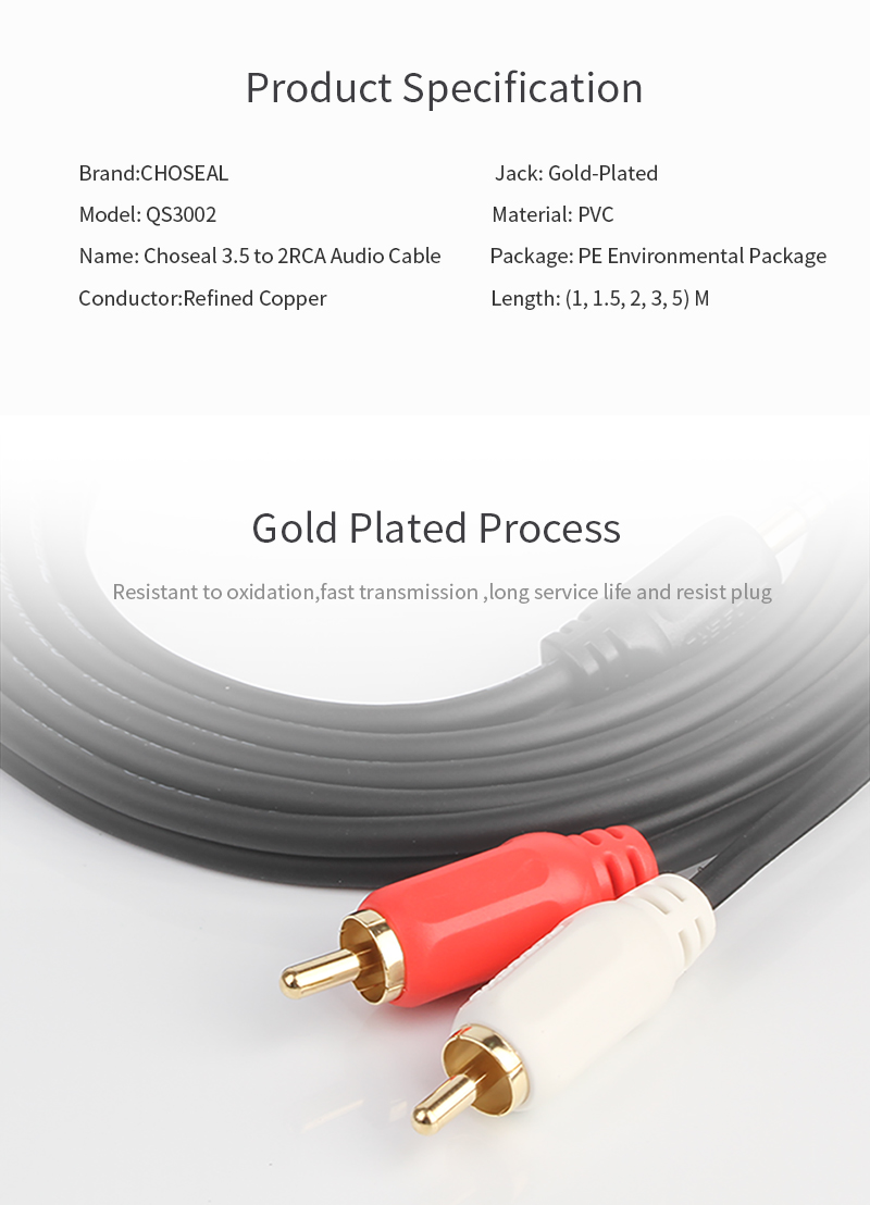 Detail Feedback Questions About Choseal 2rca 35mm Jack Cable Rca Home Theater Wiring Supplies Audio Aux For Dvd Tv 4