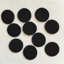 100pieces/lot 30mm BLACK Padded Felt round shape craft/ DIY Appliques Clothing decoration Scrapbook A155(China)