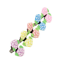 6/pcs Alloy Crab Claw Clip Retro Butterfly peaches Hairpin Children Girls Cute Hair Clips Headwear Baby Headdress Accessories(China)