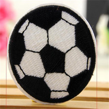1Pcs Football Patch for Clothing Iron On Embroidered Sew Applique Patch Fabric Clothes Badge Garment DIY Apparel Accessories(China)