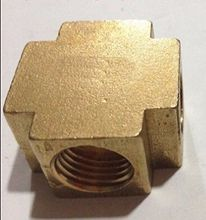 "Cross 4 Way Brass Pipe fitting Equal Female Connector 1/4"" BSP Thread For Grease System hydraulic system"
