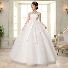 Real Photo Customized White Wedding Dress 2017 Korean Style Fashion Design Bridal Gowns Dresses vestido de noiva With Bow