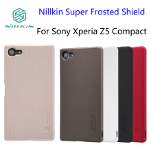 For Sony Xperia Z5 Compact case Nillkin Super Frosted Shield Cover Xperia Z5 mini Phone Cases 4.6 inch And Screen Protector