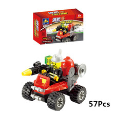 New Fire Fighting Truck Building Blocks Compatible With gift Fire Station Car Learning School Education Toys As Children Gifts