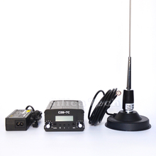 CZE-7C 7W stereo PLL FM transmitter broadcast radio station + Car antenna + Power supply + MIC Kit
