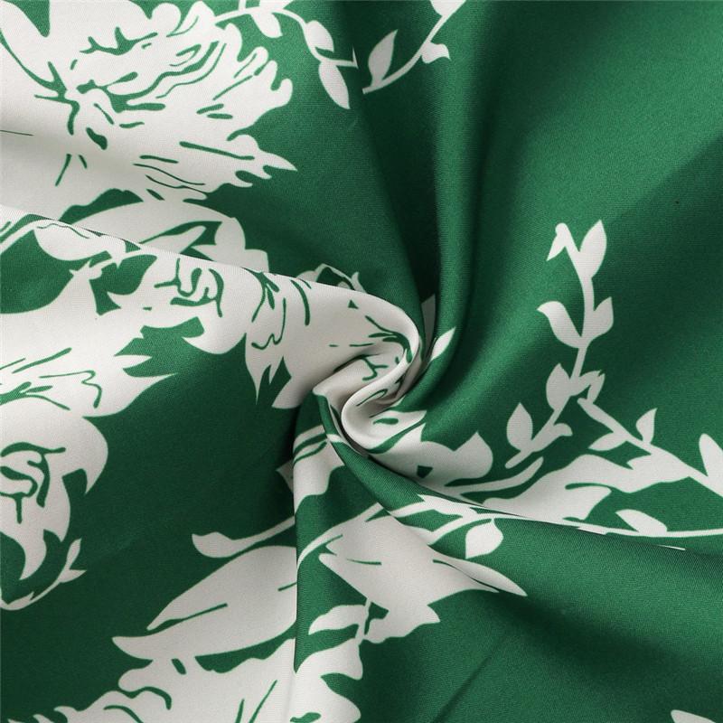 Hirsionsan Short Bohemian Dress 2017 Summer Women Sundress Sexy V-neck Floral Print Boho Dress Backless Green Beach Sundress 14