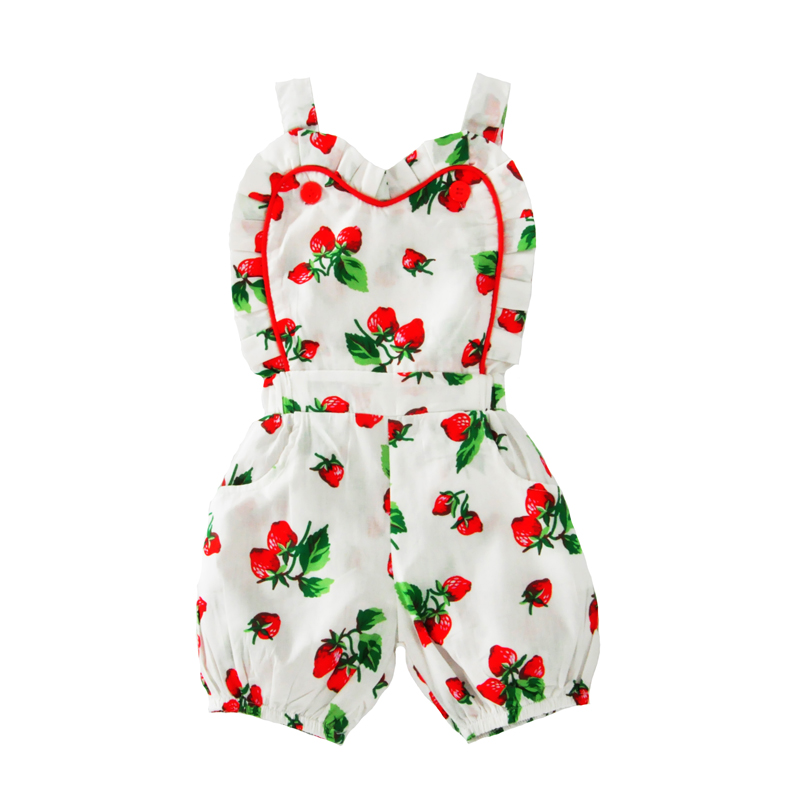baby girls rompers 2017 summer style strawberry suspender toddler girl jumpsuit for baby clothes cute fruit girl newborn romper<br><br>Aliexpress