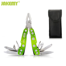 9 In1 Outdoor Steel Multi Tool Plier Portable Pocket Mini Folded Camping Kit Steel Handle Folding Safety Knife Survival Hand Too(China)
