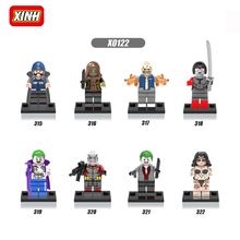XINH X0122 Building Blocks Super Heroes Avengers clown Samurai Sword Figures Suicide Squad Movie Model Toys