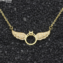 GORGEOUS TALE Bohemian Necklaces Copper Angle Wings Pendant Women Necklace Rose Gold Collares Mujer 2017 Trendy Jewelry(China)