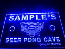 DZ048- Name Personalized Custom Beer Pong Cave Bar Beer LED Neon Light Sign