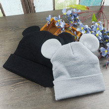 Winter Baby Toddler Mickey Ears hat children crochet cap Girls & Boys Knit Baby Hats Beanie bebes chapeau