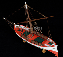 Classic wooden sailing boat assembled model wood scale model1/50 LEUDO scale assembly model ship building kits scale boat ship(China)