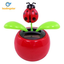 LeadingStar Hot Selling Solar Powered Dancing Lady Bug Flower Great as Gift Toy For Children random color zk15(China)