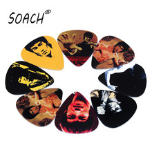 SOACH 10pcs 0.71mm acoutsic guitar paddle two side earrings pick DIY design guitarra accessries pick guitar picks