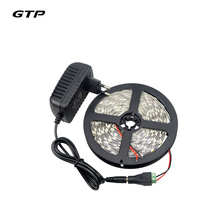 5 Color Can Choose 1Pack 5 Meters Single Color SMD 5050 LED Strip Light + DC Female Adapter + DC 12V 3A Power Supply Adapter