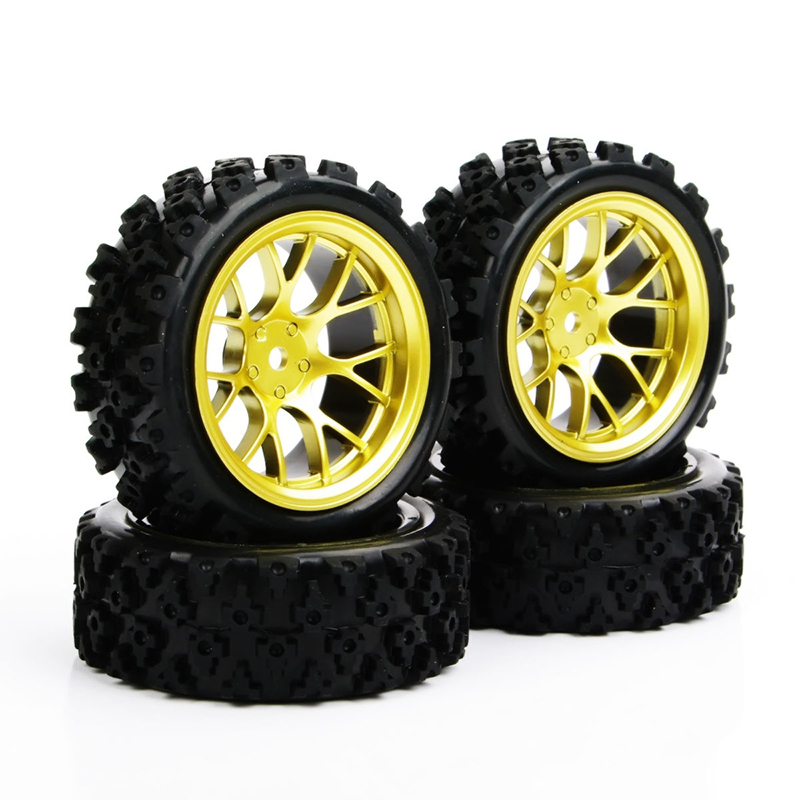4pcs/set Racing Off Road Tires 12mm Hex Rubber Tyre Wheel Rim For RC 1:10  Vehicle Toys Accessories(China)