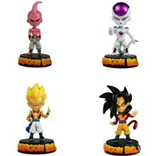 4x Set Dragonball Z DBZ Figures Freeza + Son Gokou + Majin Boo + Vegeta Collectible Anime Action Figure Gift APL011112