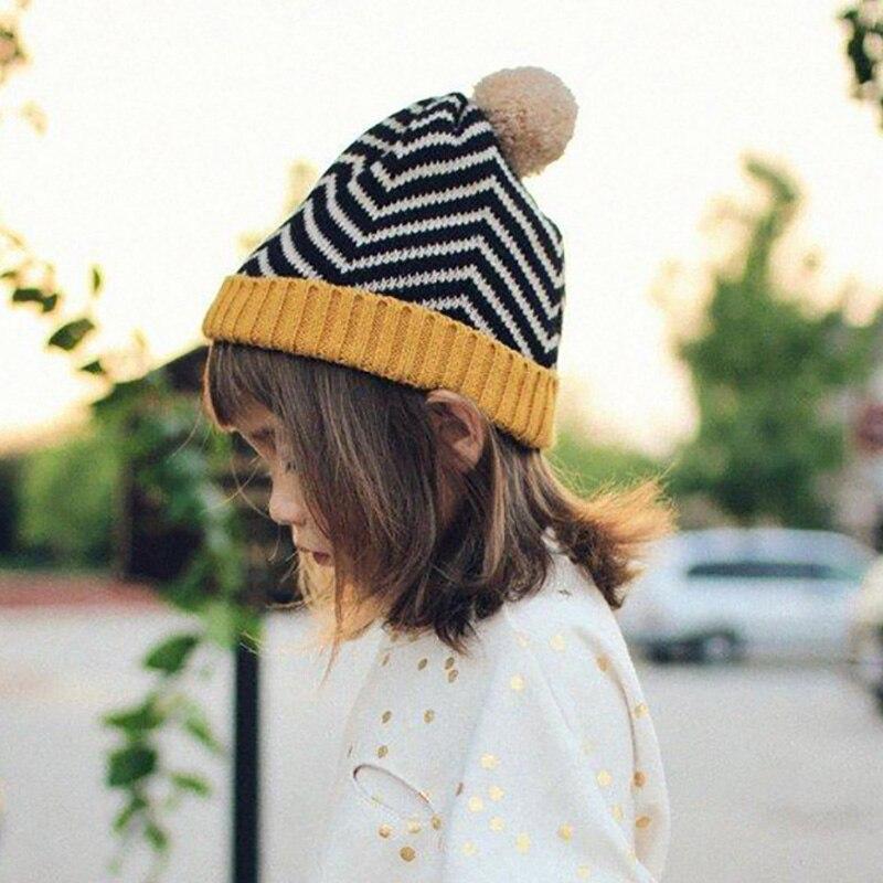 Autumn and winter children hat zebra ball ball knitted cap wool hat fashion fashion high quality childrens knitted hatÎäåæäà è àêñåññóàðû<br><br><br>Aliexpress