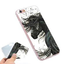Majestic Mustang Horse  Clear Soft TPU Slim Silicon Phone Case Cover for iPhone 4 4S 5C 5 SE 5S 7 6 6S Plus 4.7 5.5 inch