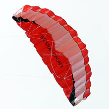 2.6m/102inch Dual Line power Stunt kite Parafoil Parachute Beach surfing sport with flying line 3 colors