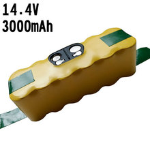 14.4V 3000MAH NI-MH Battery Pack for iRobot Roomba 560 530 510 562 550 570 500 581 610 780 770 760 870 Series battery 14.4V 3Ah