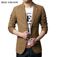 HEE GRAND Men's Casual Blazers 2017 Hot Sale Leisure Suit Fashion Slim Fitted Male Blazers Single Breasted Costume Homme MWX413(China)