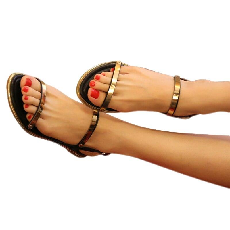 Summer Bohemia  style toeless flat sandals sequins Rome fashion comfortable  women sandals  BT156<br><br>Aliexpress