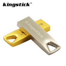 Kingstick Gold Silver Triangle Memory Stick 32GB pen drive USB Flash Drive 64GB 16GB 4GB 8GB Flash Memory Drive High Speed(China)