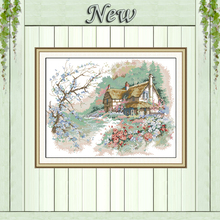 The Run of the Country Scenery painting 11CT counted printed on Canvas DMC 14CT Cross Stitch diy Embroidery kits Needlework Sets(China)