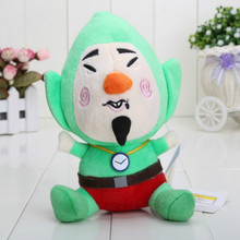 Kawaii Anime Plush dolls The Legend of Zelda Stuffed Toys Tingle/Link Green Color Kids Gift 20CM(China)