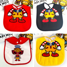 2016 Cool Glasses Baby Bibs Waterproof Cotton Boys Girls baberos Patterns Cartoon Kids Newborn Burp Cloths Apron Funny Brand