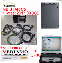 Super MB STAR C5 sd connect + latest 2017.09 mb star c5 cf30 ssd + dts vandiamo vediamo 2017 as gift+ star c5 cf30 laptop 2017(China)