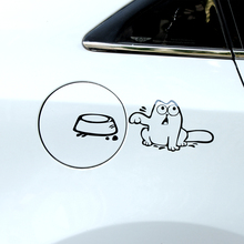 Car styling funny hungry SIMON CAT Auto fuel tank cap decor sticker for Land Rover freelander 1 2 discovery 2 3 4 a9 accessories